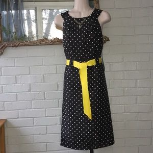 Sheri Martin York black polkadot ribbon dress 6